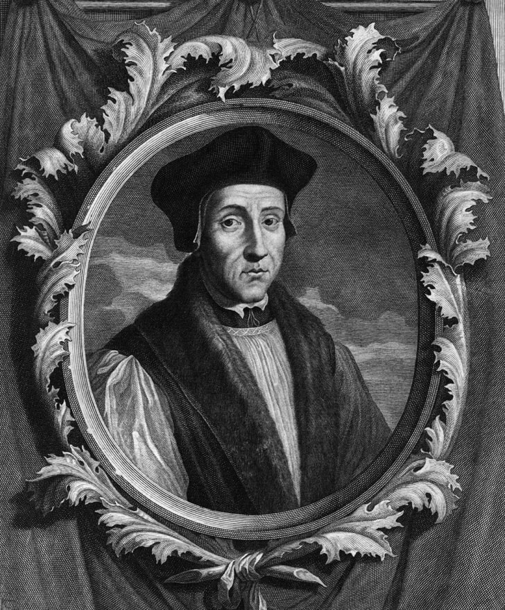 An engraving of St. John Fisher, Bishop of Rochester, circa 1520