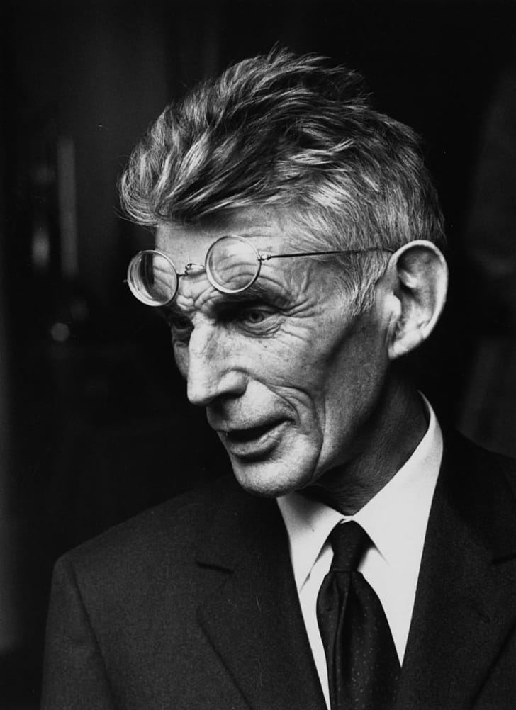 Irish playwright and author Samuel Beckett