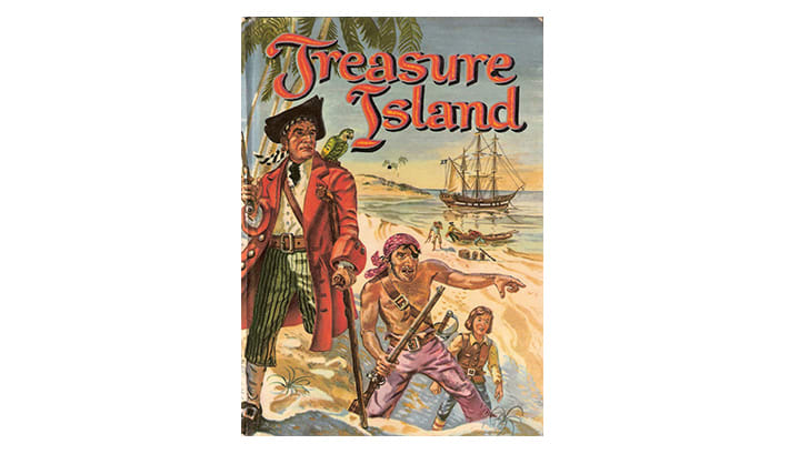 The cover of 'Treasure Island'