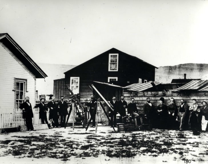 Scientists at Rawlins, Wyoming Territory.