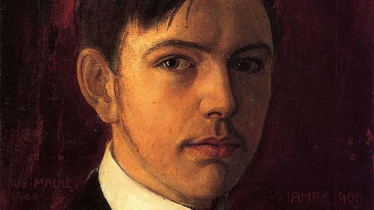 This is an image of Self-portrait by August Macke.