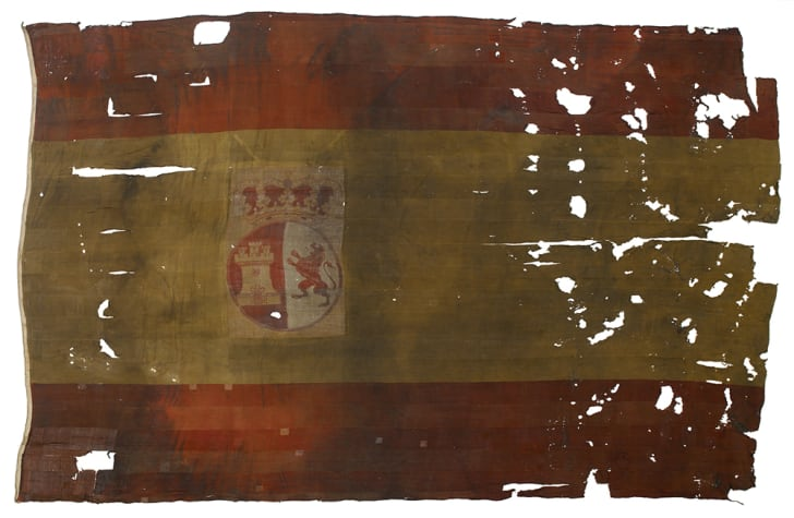 Spanish naval ensign from the San Ildefonso