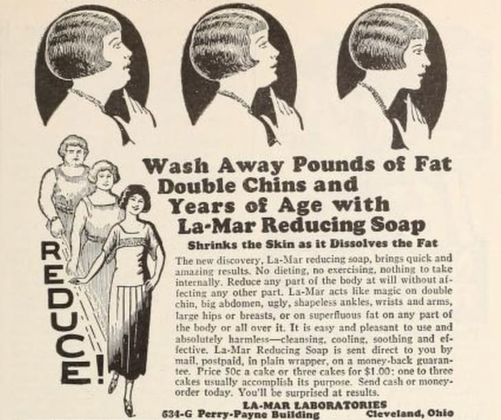 An ad for a weight loss soap