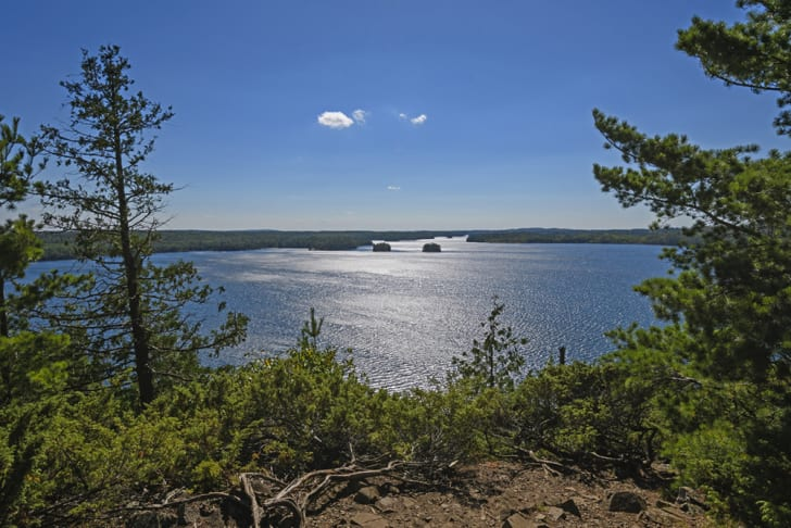 View point over the Boundary Waters