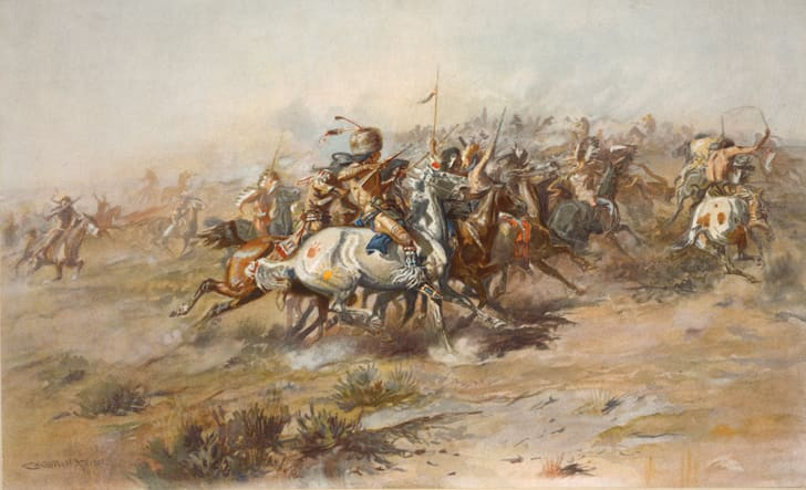 A 1903 painting of the Battle of Little Bighorn