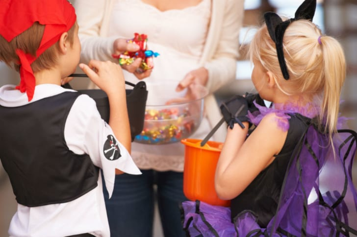 Trick-or-treaters venture out on Halloween