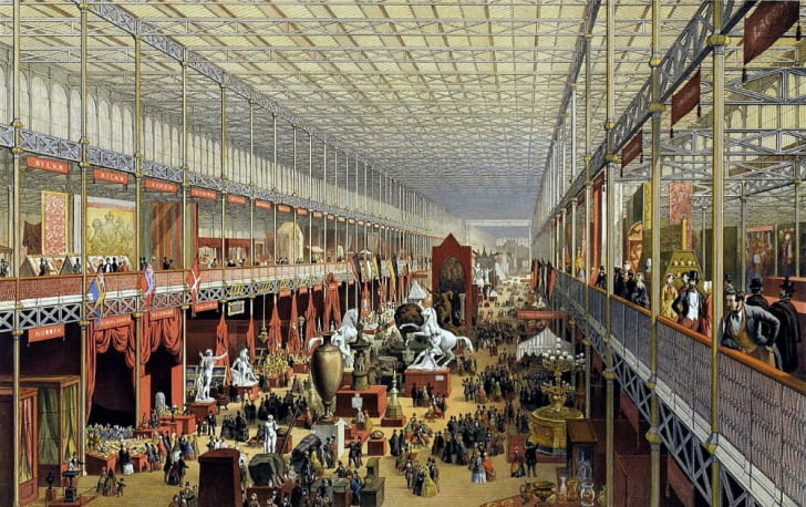 A rendering of the Great Exhibition of 1851