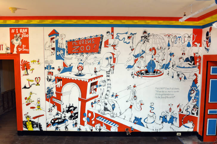 Mural in the Dr. Seuss museum.