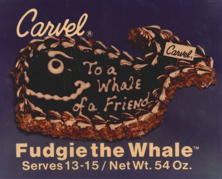 An original ad for Fudgie the Whale