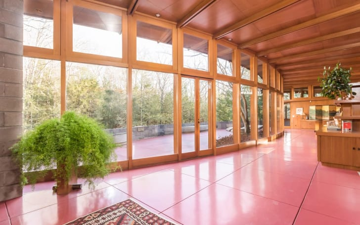 "Architect Frank Lloyd Wright's ""Tirranna"" home in New Canaan, Connecticut"