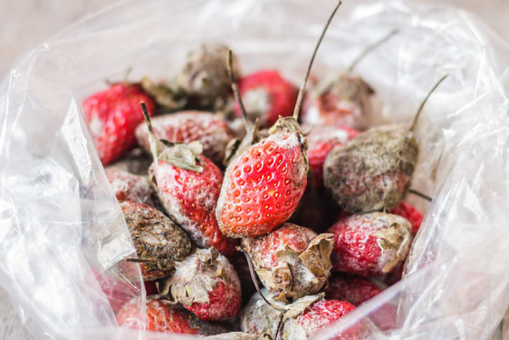 mold on strawberries