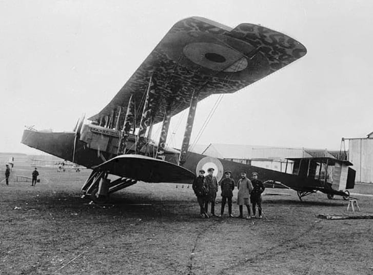 "Handley Page Type ""O"" is a huge biplane"