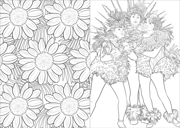 Coloring book page two