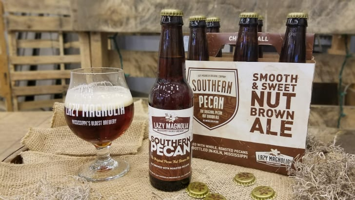 Southern Pecan Nut Brown Ale Lazy Magnolia Brewing Company beer