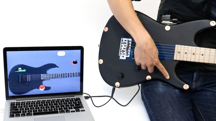 Electrick turns a guitar into a touchpad.