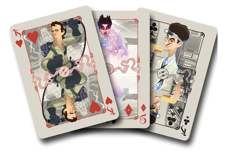 Select cards from the 'Ghostbusters' playing card pack