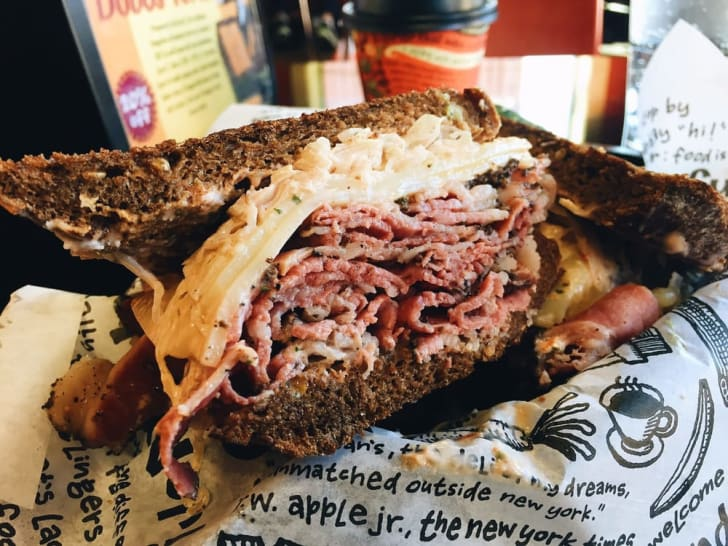Reuben Sandwich at Zingermann's