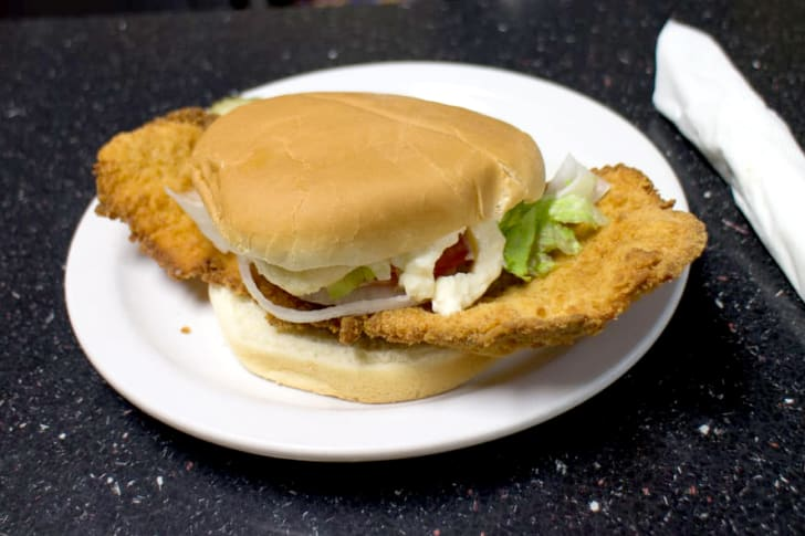 Pork Tenderloin Sandwich at Nicks Kitchen