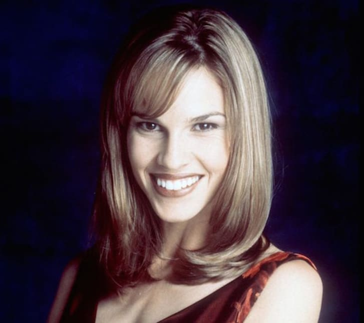 Hilary Swank in a publicity shot for 'Beverly Hills, 90210'