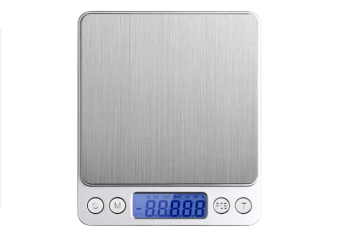 Etekcity 2000g Digital Pocket Scale, Stainless Steel, Backlit Display, 0.01oz Resolution for $10.99 (list price $21.99)