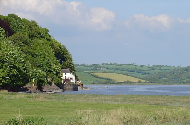 Dylan Thomas's boathouse at Laugharne, Carmarthenshire, Wales,