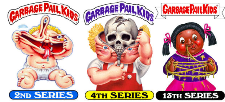 Collectible Garbage Pail Kids Lot Of 14 Cards In Sheet For Improving Blood Circulation Collectibles