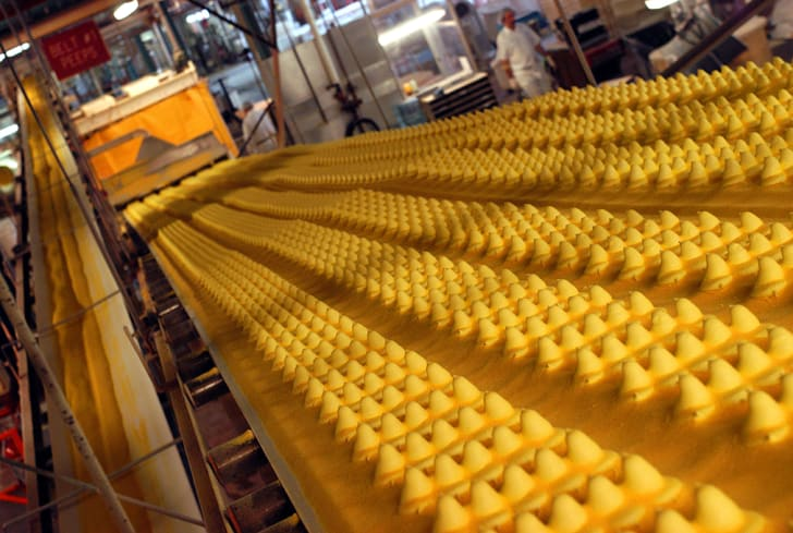 Peeps candies being made