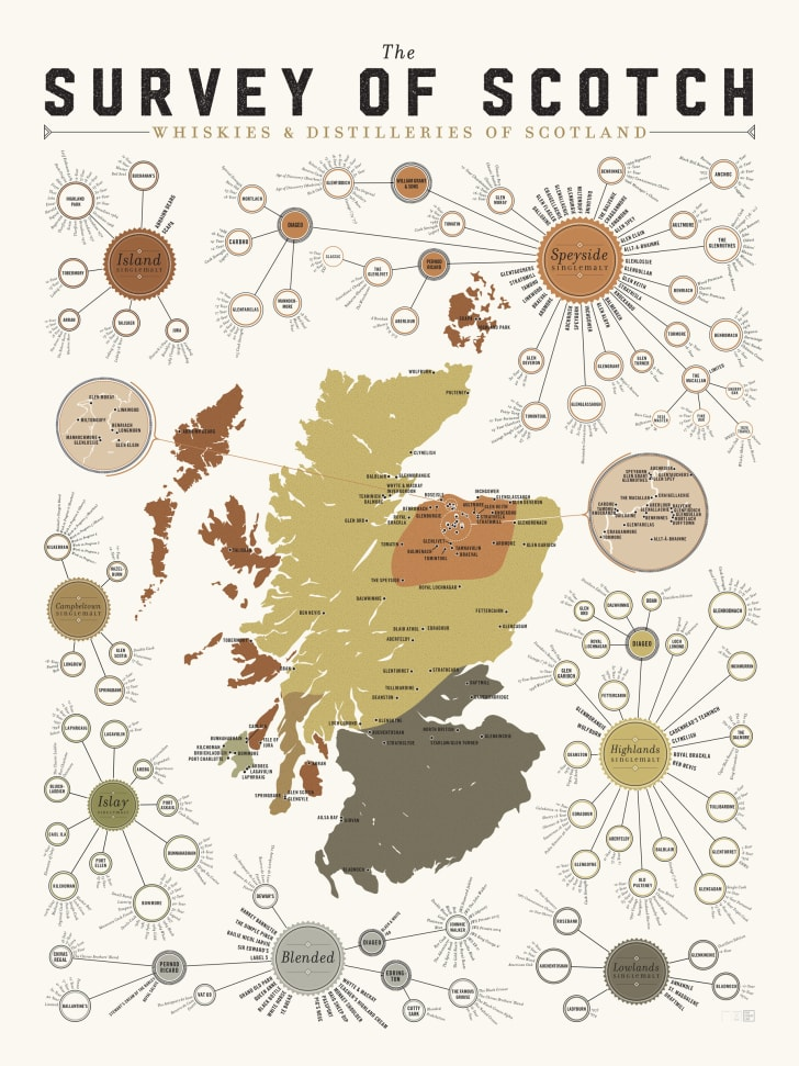 Schottland Karte Pdf.The Ultimate Map Of Scotland S Whisky Distilleries Mental
