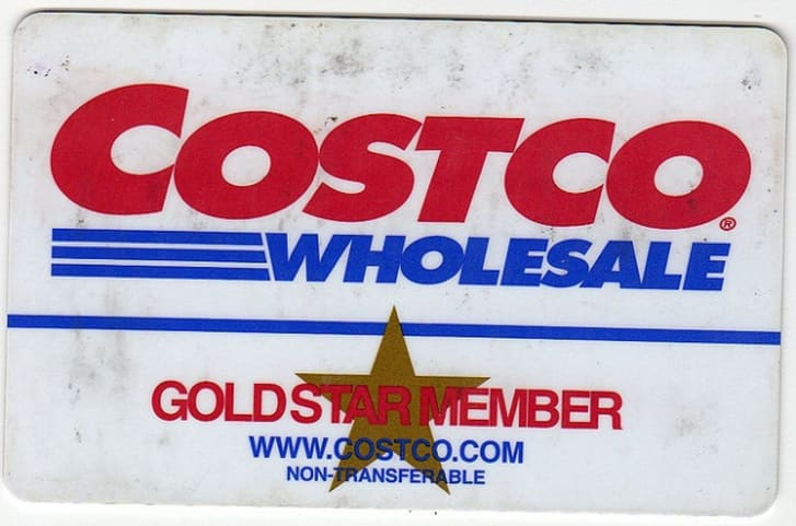 A Costco membership card