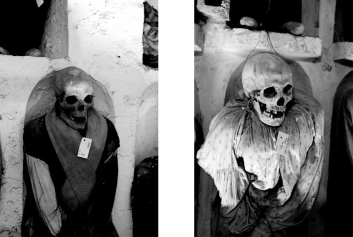 Mummies in the Catacombs of the Capuchins in Palermo
