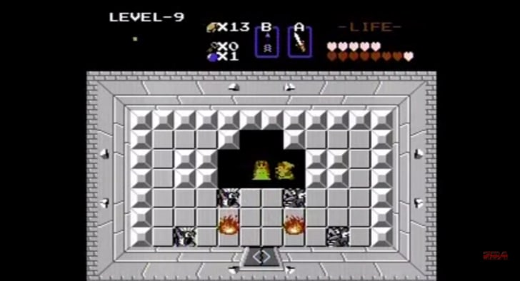 Zelda Second Quest Map on