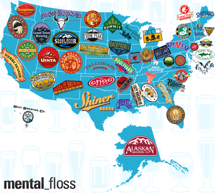 Map Of Texas Breweries.The Largest Craft Brewery Per State Mental Floss