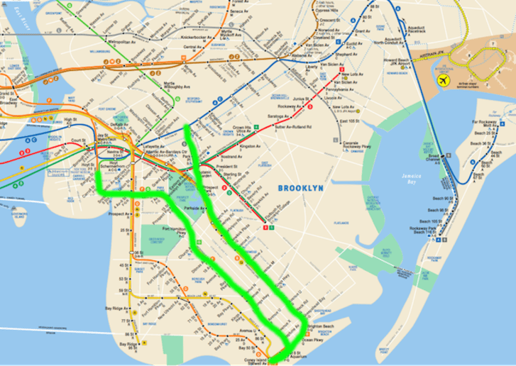 Nyc Subway Map Howard Beach.Is It Possible To Ride The Entire New York Subway System In A Single