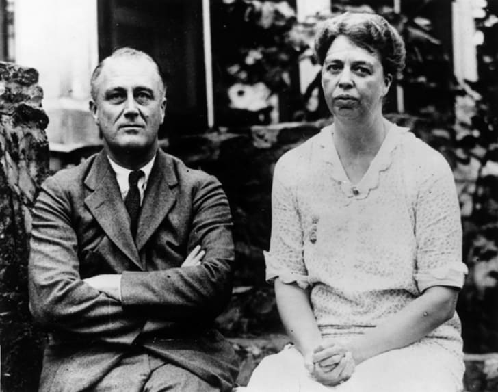 FDR and Eleanor Roosevelt