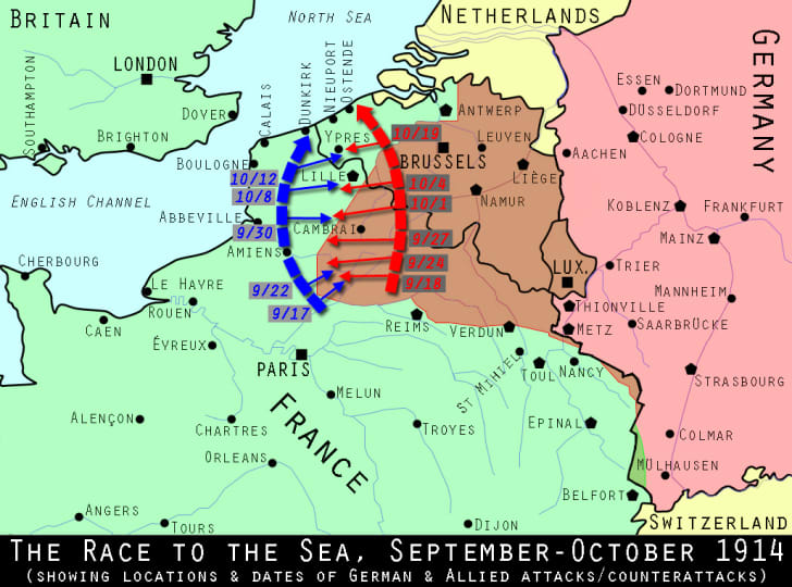 WWI Centennial: The Race to the Sea Begins   Mental Floss