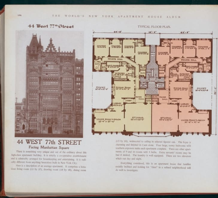10 Elaborate Floor Plans From Pre-World War I New York