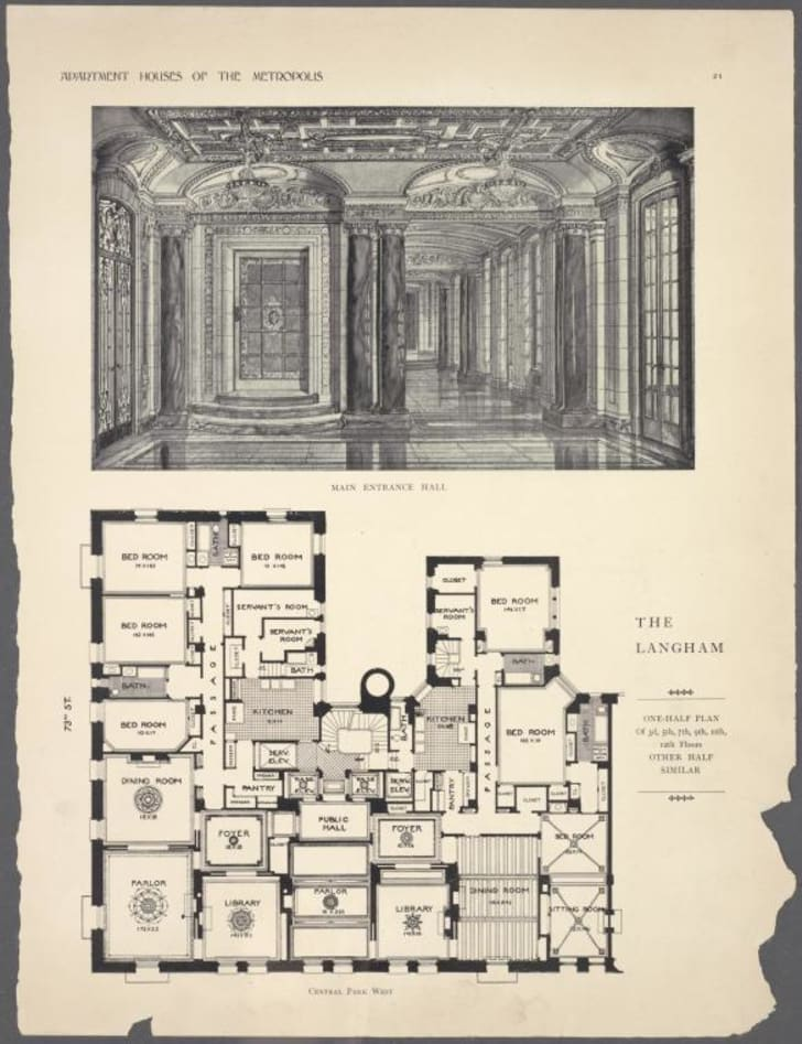 10 Elaborate Floor Plans From Pre World War I New York