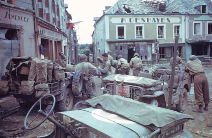 Amazing Color Photos of France After D-Day | Mental Floss