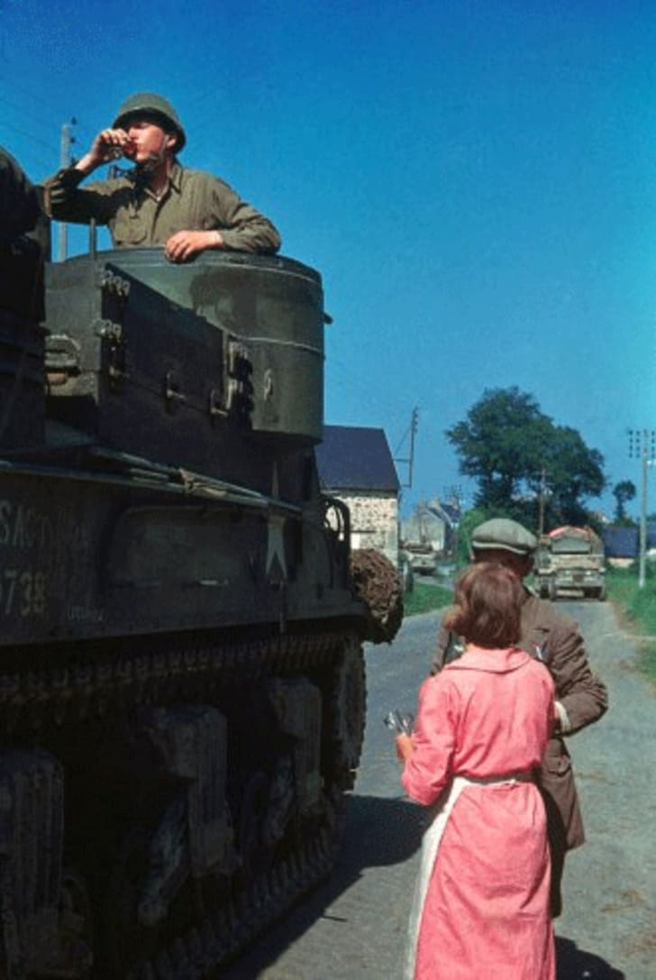 Amazing Color Photos of France After D-Day   Mental Floss