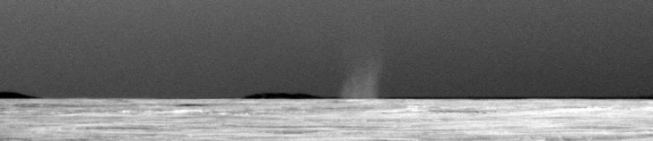 Opportunity rover's photo of a dust devil