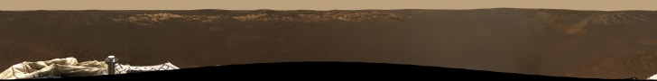Rover Opportunity's 360° photo of Mars