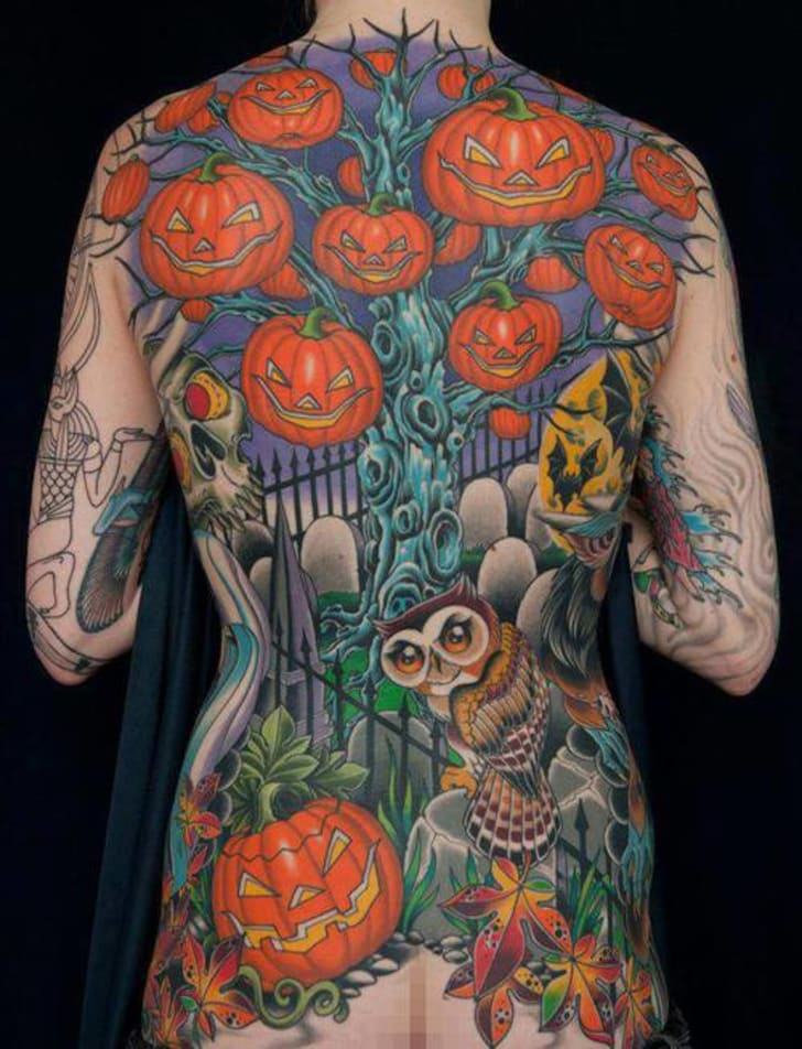 1bfa047e6718f You think you love Halloween more than anyone else? Sorry, but this back  piece—done by Darcy Nutt of Chalice Tattoo in Boise, Idaho—proves you wrong.