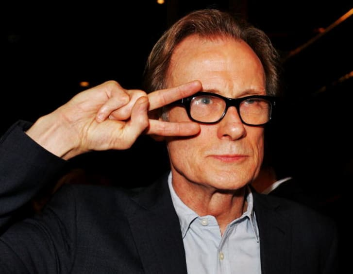 British actor Bill Nighy arrives for the premiere of `The Boat That Rocked' at the Dendy Opera Quays on March 31, 2009 in Sydney, Australia