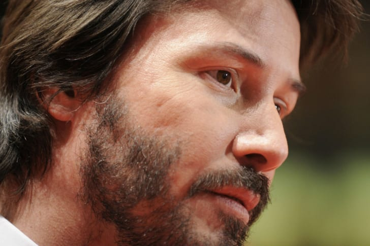 Actor Keanu Reeves is photographed during a public appearance