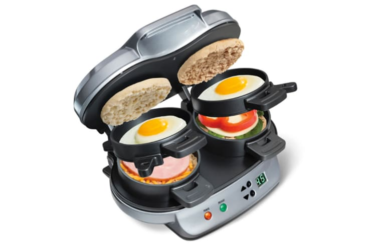 A breakfast sandwich maker