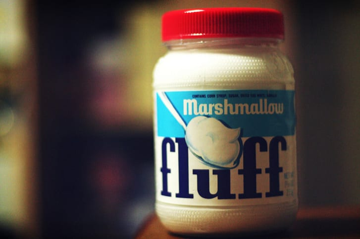 A jar of marshmallow Fluff