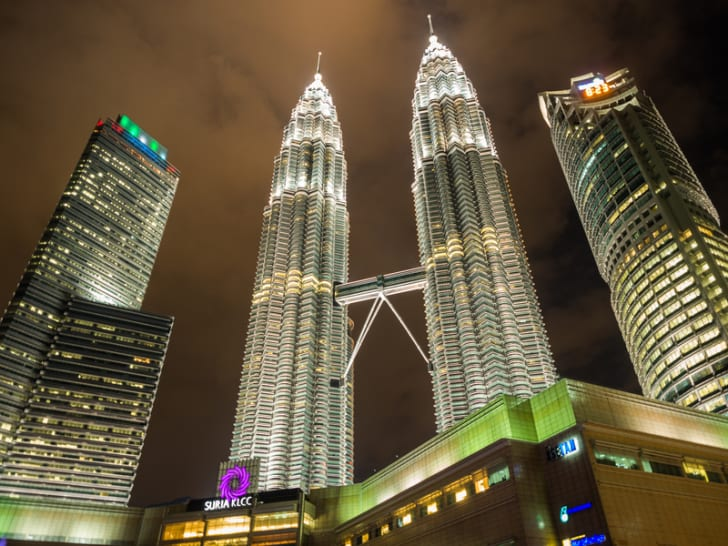 Petronas Twin Towers the famous landmark of Malaysia