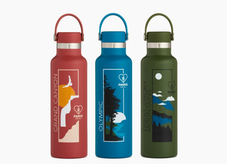 Three water bottles