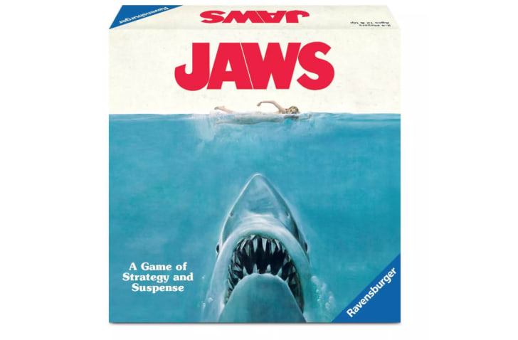 Box of Jaws board game.