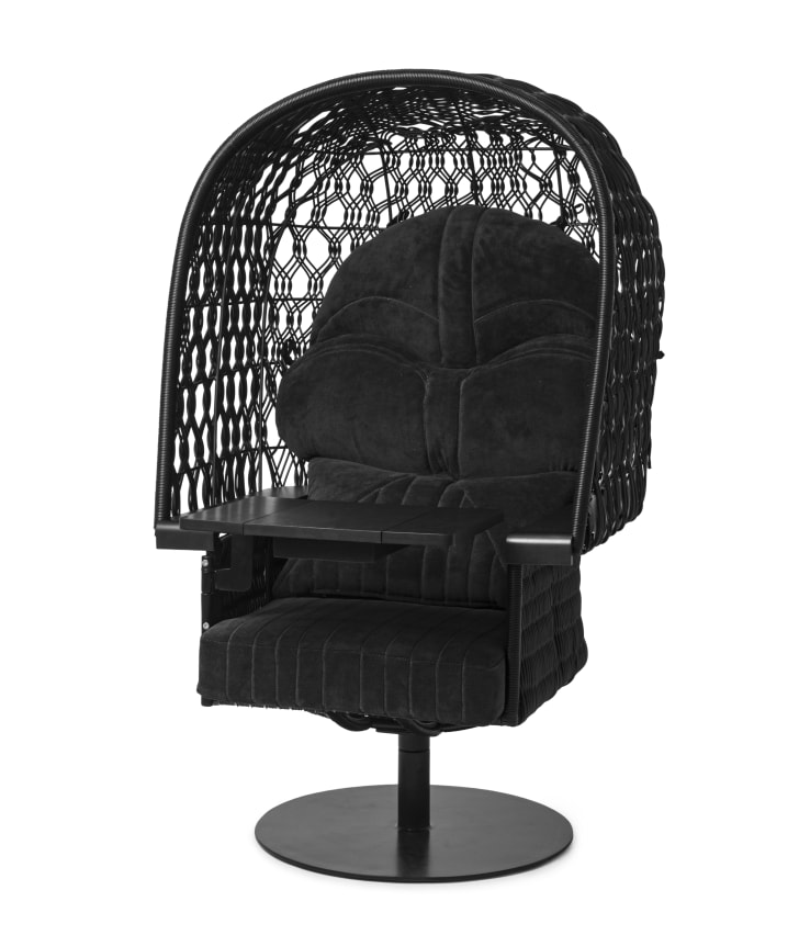 Darth Vader chair inspired by Star Wars.